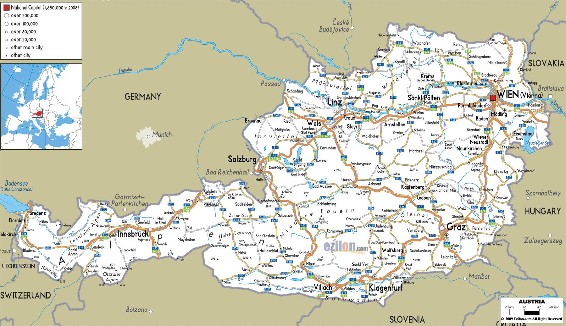 Ostrig Byer Kort Detaljeret Kort Over Ostrig Med Byer Western