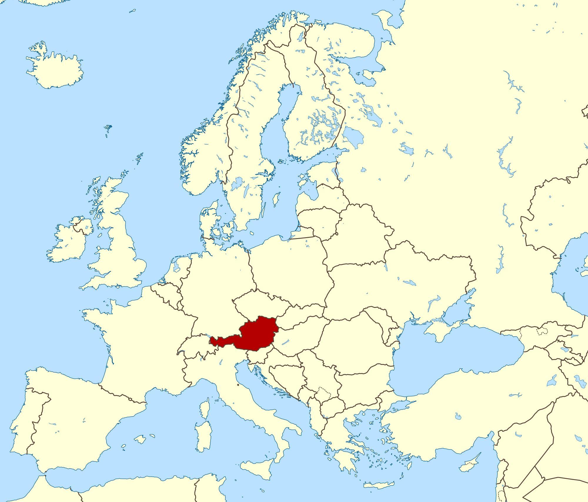 Ostrig Kort Placering Viser Kort Over Ostrig Western Europe