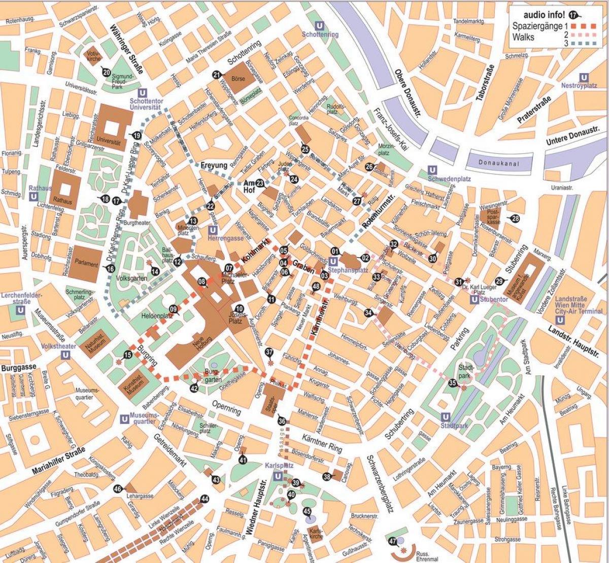 Wien Ostrig Kort Over Byen Wien Ostrig City Center Kort Det