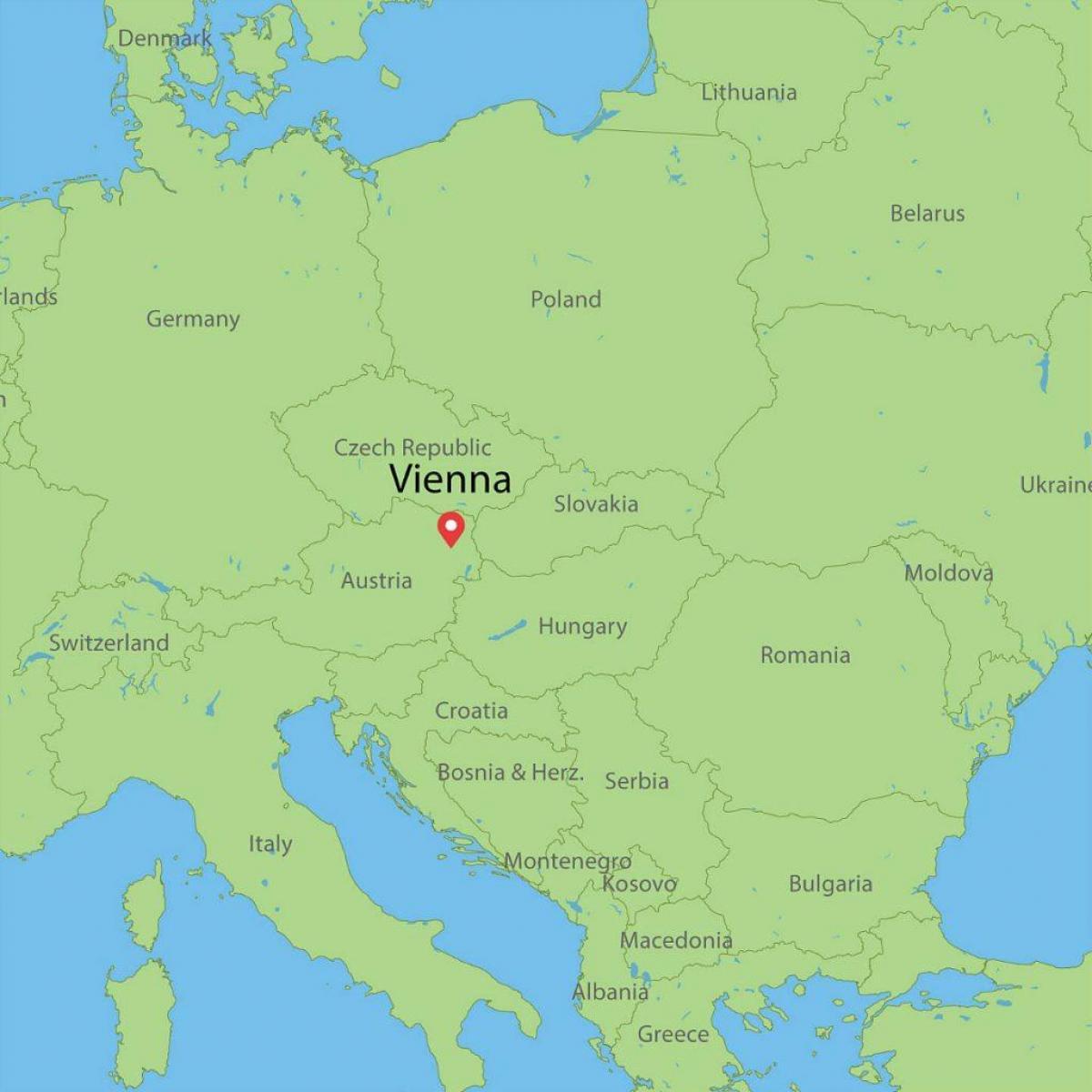 Wien Ostrig Kort Europa Kort Over Wien Ostrig Kort Europa Det